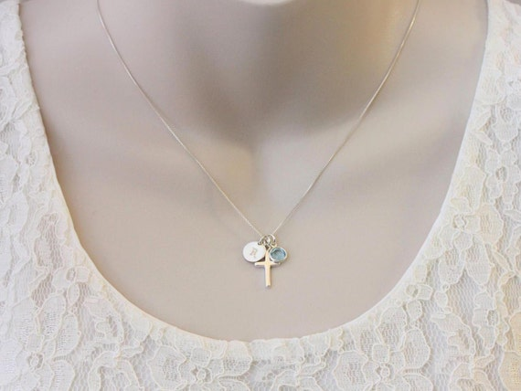 Easter gift for niece gift necklace sterling silver initial easter gift for niece gift necklace sterling silver initial birthstone necklace nieces birthday graduation baptism confirmation gift negle Choice Image