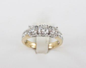 14k Yellow Gold Diamond  Band, 14k yellow gold diamond ring, Bridal Diamond band