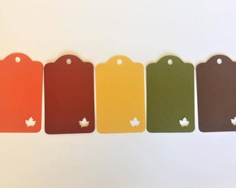 "Maple Leaf Gift Tags (2"" wide) - Fall Tags - Fall Wedding Favor Tags"