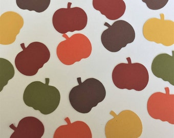 "Pumpkin Confetti l Autumn Paper Confetti l Thanksgiving Table Decor  l Pumpkin Die Cuts (1"" wide)"
