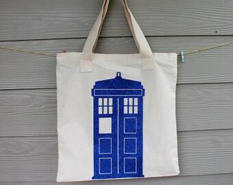 Dr. Who Tardis Handbag, Dr. Who Diaper Bag, Dr. Who Tardis Tote Bag, Dr. Who Bags, Tardis Canvas Bag