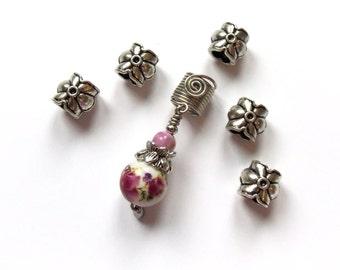 Metal hair beads, Dreadlocks beads, Dread beads, Loc jewelry, Loc beads, Hair jewelry, Dread jewelry, Boho Hair Accessories, Braid Styles
