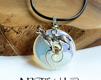 Wolf Moon Necklace | Opalite Jewellery