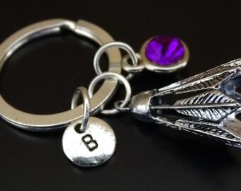 Badminton Keychain, Custom Keychain, Custom Key Ring, Badminton Key Chain, Badminton Charm, Badminton Pendant, Birdie Keychain, Birdie Charm