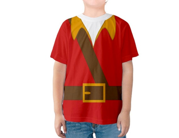 Sublimation printed shirt inspired by Gaston! Great for a disneybound, halloween costume or everyday wear!