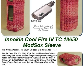 "Innokin Cool Fire IV TC 18650 (75W) ""ModSox"" Sleeve wrap case holder pouch glove cover custom handmade"