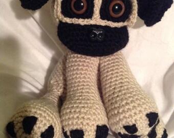Pugsly the Cute Crochet Pug
