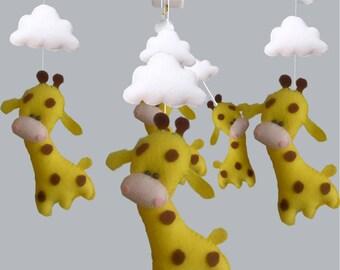 Baby Crib Mobile -  Custom Baby mobile - Nursery Forest Crib Mobile -Giraffes baby mobile-Baby Mobile