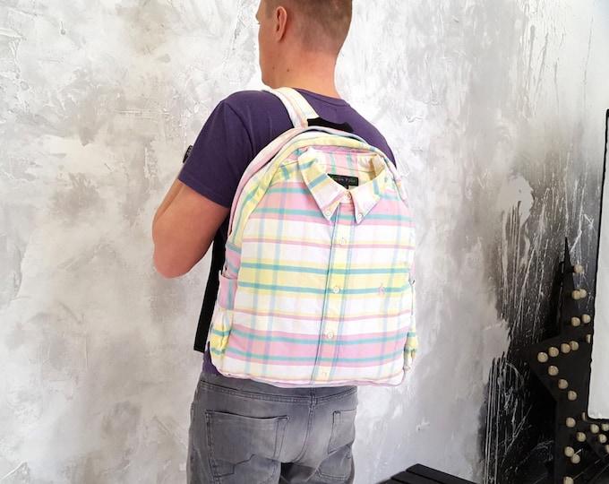 Designer backpack, festival backpack, cotton backpack, recycled backpack, messenger backpack, fashion backpack, cool backpack, 90s backpack