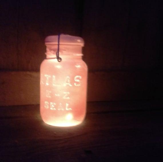 Pink Indoor String Lights : Indoor/Outdoor Light PINK Vintage Mason Jar String Fairy