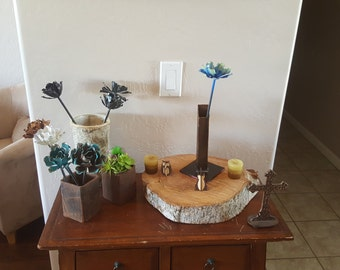 Add on vase for Single stem metal flower
