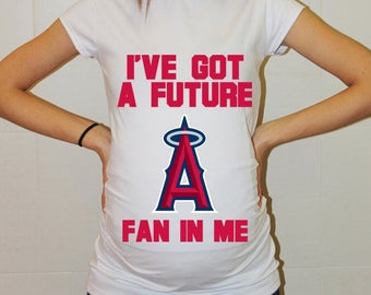 Los Angeles Angels Baby Los Angeles Angels Shirt Boy Baby Girl Maternity Shirt Baseball Maternity Clothing Pregnancy Baby Baby Shower