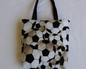 Sports Fabric Gift Bag/ Party Favor Bag/ Goody Bag- Soccer