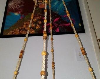 Handmade Natural Hemp Macramé  Hanging Table