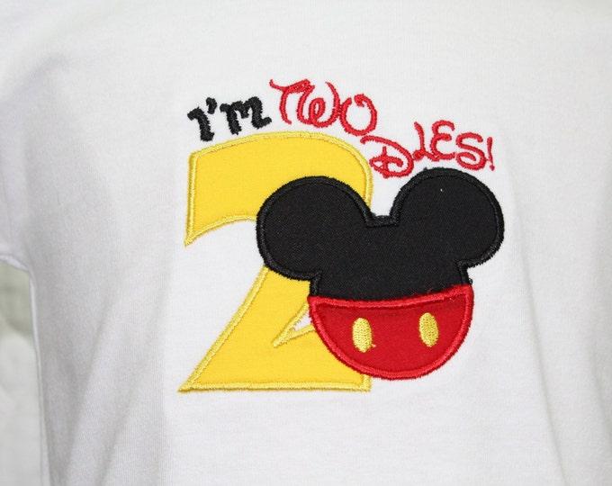 Boy 2nd birthday shirt,Boys second birthday shirt,Mickey Mouse inspired birthday shirt,Mickey birthday,Disney birthday,Personalized shirt