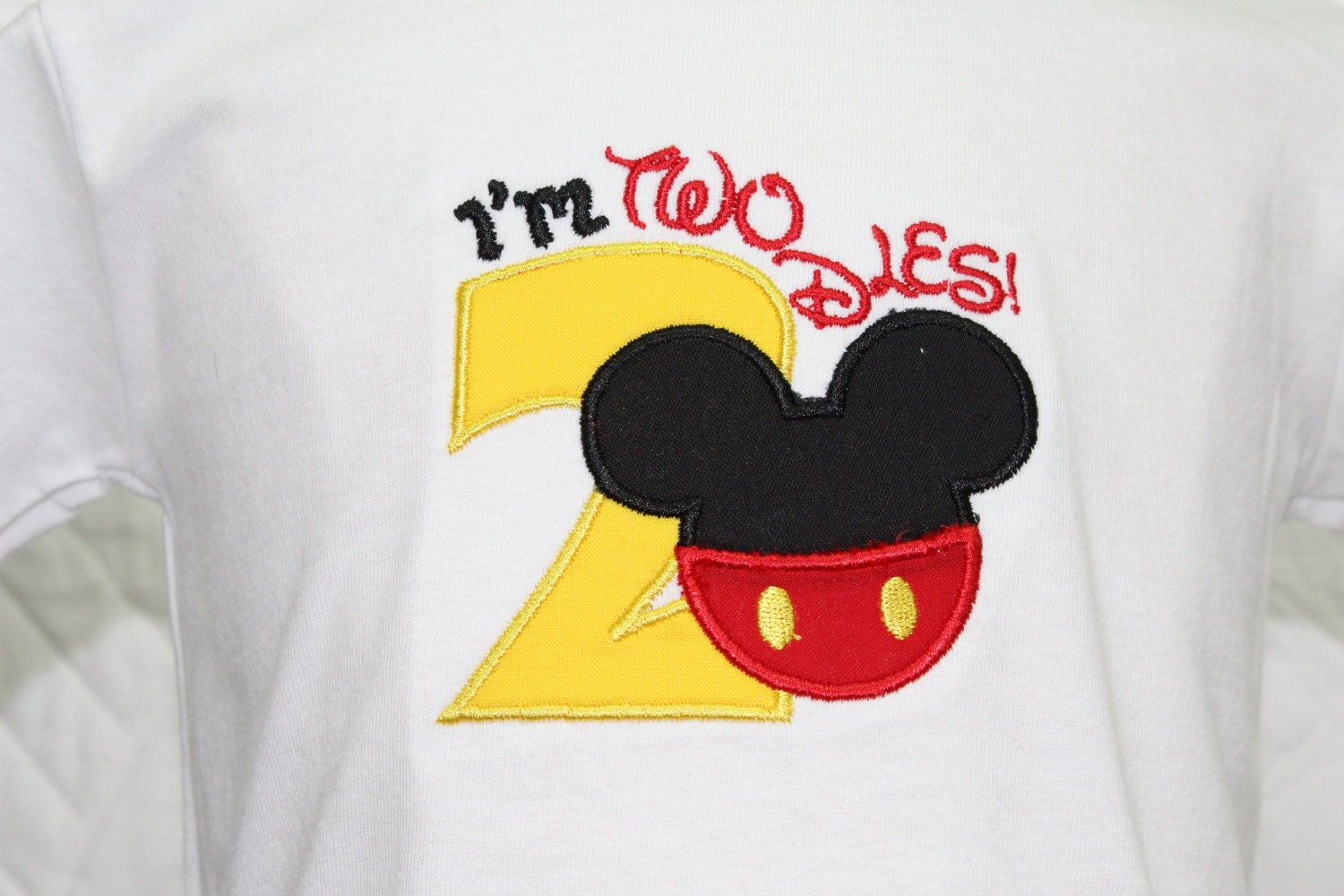 Boy 2nd Birthday ShirtBoys Second ShirtMickey Mouse Inspired Shirt