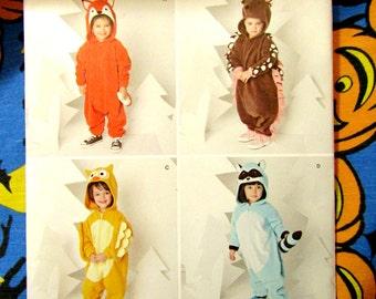 Simplicity 1351 Kids Animal Kigurumi costume pattern Unicorn Kitten penguin puppy Sizes 1/2 - 4