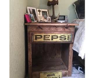 Rustic Pepsi Crate Night Stand