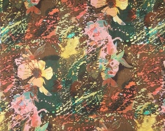"Indian Decor Fabric, Multicolor Floral Print, Apparel Fabric, Dress Material, Sewing Fabric, 40"" Inch Cotton Fabric By The Yard ZBC7237A"