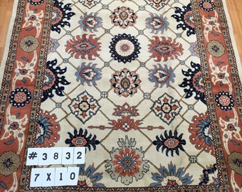 7' x 10' Persian Sultanabad Oriental Rug - Hand Made - 100% Wool