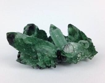 Chromium Quartz, Green Quartz, Terrarium Stone, 129 grams, Forest Green, Quartz, Alter Crystal, Heart Chakra