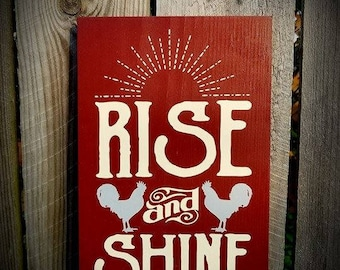 Chicken Coop Signs - Rise and Shine - Mother Cluckers - Farmhouse Decor - Farmhouse Wall Decor - Chicken Sign -  Farmhouse Sign - Chicken