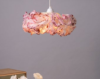 Pink Pendant lamp, Baby Nursery room light, Paper Lamp, hanging light, Ceiling Lamp shade, Pendant Light, Girls Room Lamp, FREE SHIPPING