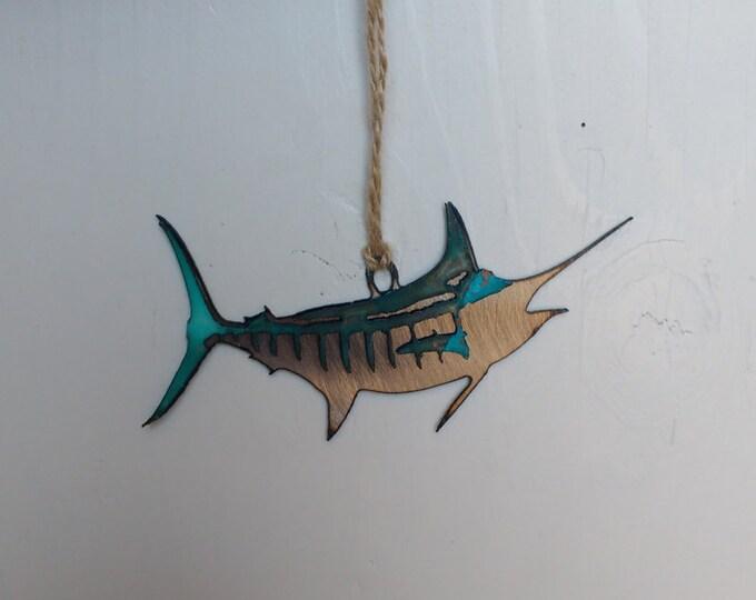 Patina Blue Marlin Ornament