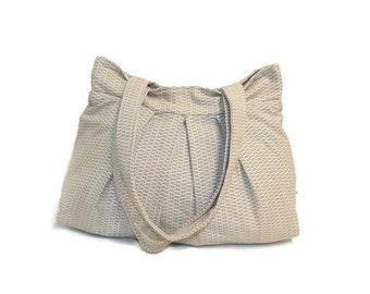 Pleated Shoulder Bag - Fabric Shoulder Bag - Handmade Shoulder Bag - Ready to Ship