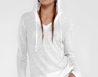 Linen Hoodie By Claudio Milano Style 8118