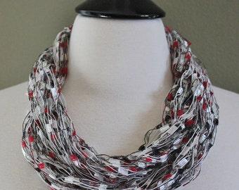 Ribbon Trellis Yarn Arm Knit Necklaces