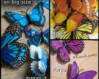 20 - Realistic 3D PVC Butterfly Design // Decal Art Wall Sticker //Room Decorations Home Decor
