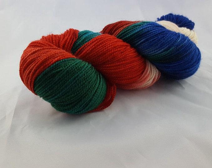 Super Mario Bros - Fingering Weight - Sock Yarn - Madeline Base - 80/20 Wool Nylon
