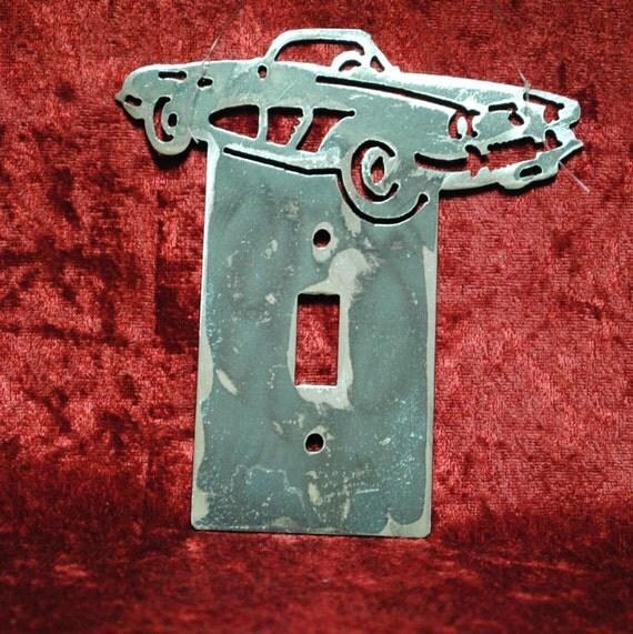 1958 Chevy Corvette Single Light Switch Cover Plate, Light Switch Cover, Auto Memorabilia, Classical Car, 1958 Memorabilia, Automotive Art