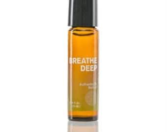 100% pure, Breathe Deep, Roll-On, 10ml, essential oil blend, Lemon, Orange, Eucalyptus, Spearmint, Tea Tree, Nature's Sunshine