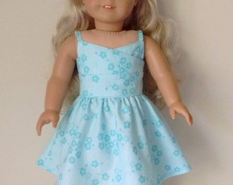 "18"" doll blue sundress"