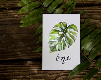 Leaf Table Card