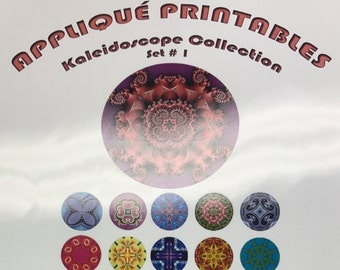 Applique Printables: Kaleidoscope Collection Set #1 by Sew Inspired - clearance sale 50% off