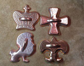 Mardi Gras Cookie Cutter - Set of Four
