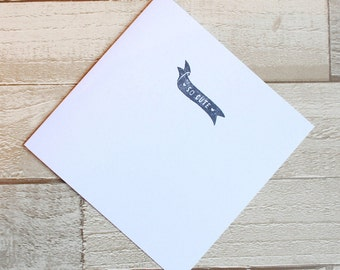 Ink Stamp Effect 'So Cute' Greeting Card