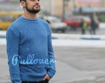 Fisherman Sweater, Custom Knit Sweater, Men Pullover Gift for him Jumper for him, Cotton