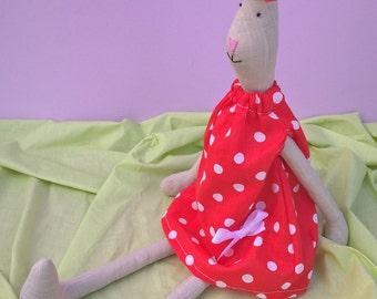 Thin Bunny Doll - Art Doll - Zoo Decor