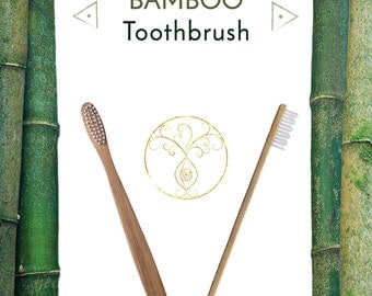 Bamboo Toothbrush : Product for Oral Hygiene (Sustainable, Eco- friendly, Biodegradable, Organic)