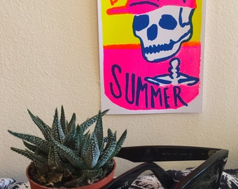 Dying 4 Summer Skeleton Print