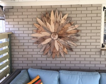 Reclaimed Wood Flower,Farm House Decor, Rustic Home Decor