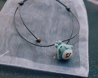Hand-painted bracelet Totoro in ceramic • Miyazaki • My neighbor Totoro • Studio Ghibli