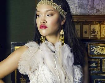Golden lace headband