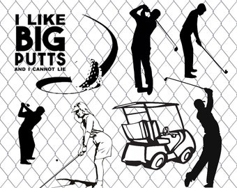Golf SVG Bundle, golfing SVG , sports clipart, svg files for silhouette, cricut, vector, dxf, cut files, cutting template, vinyl, golf svg