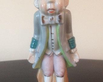 Vintage RARE Old Bald Man Figurine Made in Occupied Japan