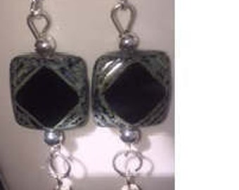 Handmade, one-of-a-kind dangle earring
